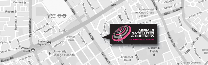Audio & Visual Installer's in Euston NW1 and throughout North West London