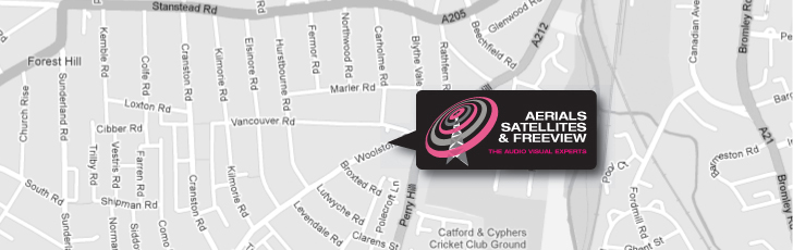 International & European Satellite Systems Come To Forest Hill SE23 and Throughout South East London